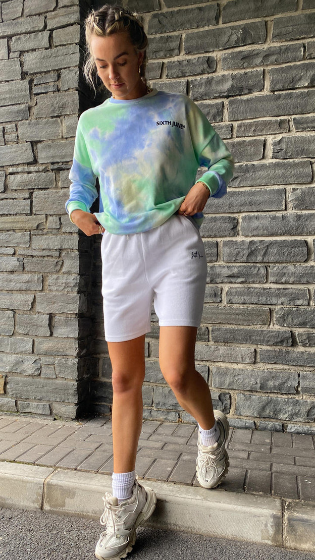 Get That Trend Sixth June Signature White Shorts