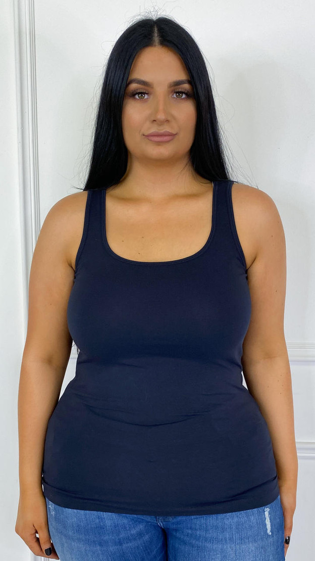 Get That Trend Only Carmakoma Basic Black Tank Top