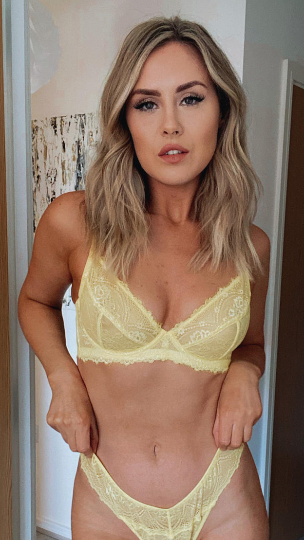 Wolf & Whistle Yellow Everyday Lace Bra