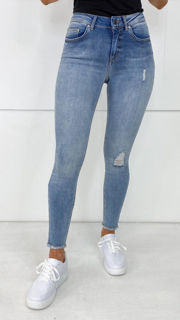 Get That Trend Only Light Blue Denim Ankle Skinny Fit Jeans