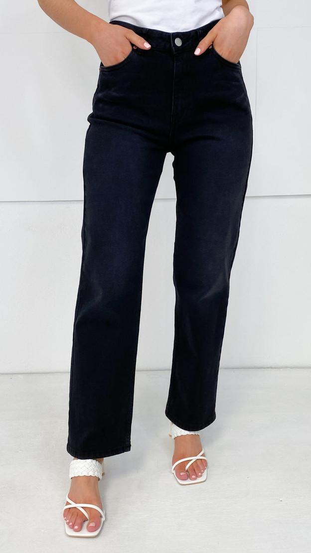 Dr. Denim Gritstone Black Straight Fit Jeans