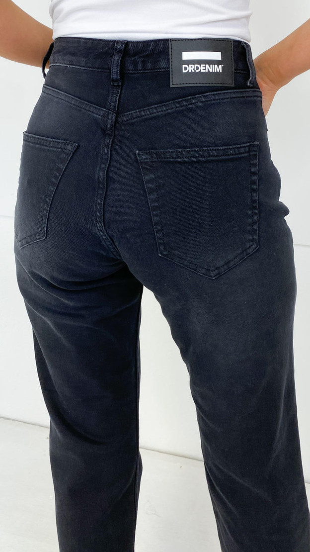 Get That Trend Dr Denim Gritstone Black Straight Fit Jeans