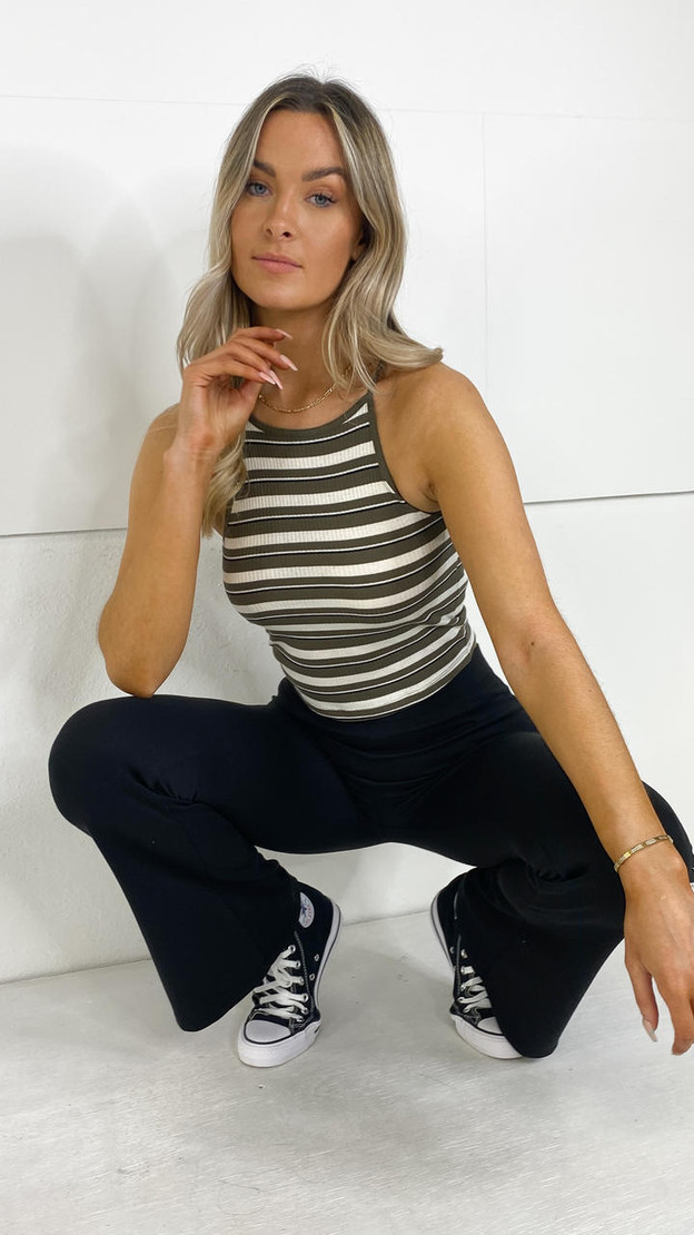 Only Black Stretchy Flared Trousers