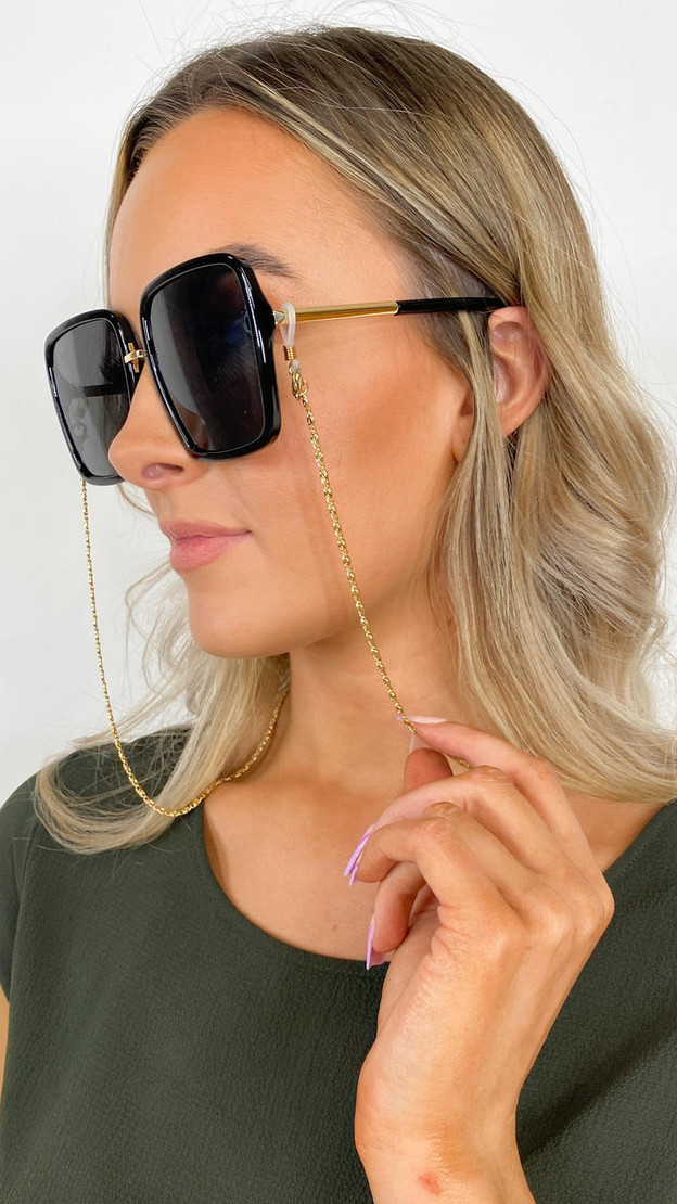 Only Fine Gold Sunglasses Chain