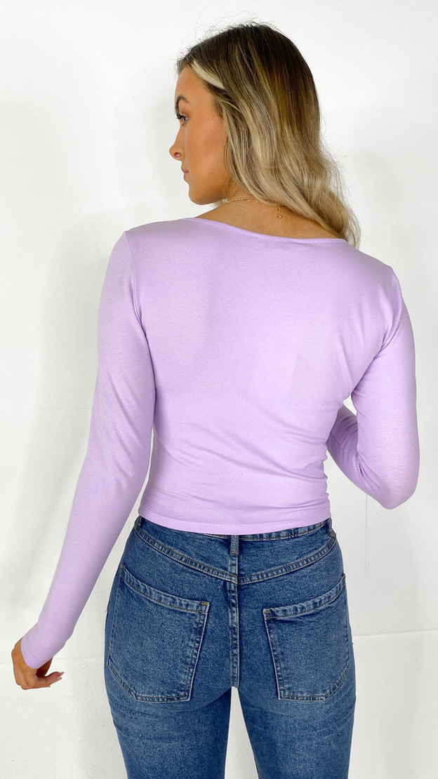 Get That Trend Only Purple Long Sleeve Top