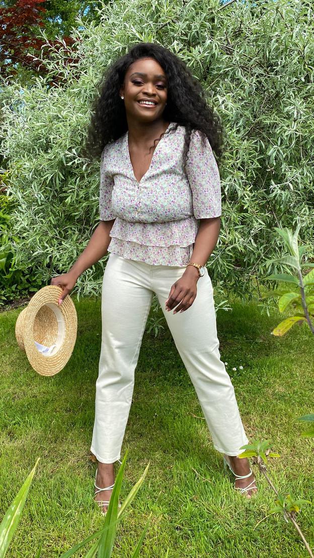 Get That Trend Ivy Lane Mint Green Floral Print Button Down Blouse