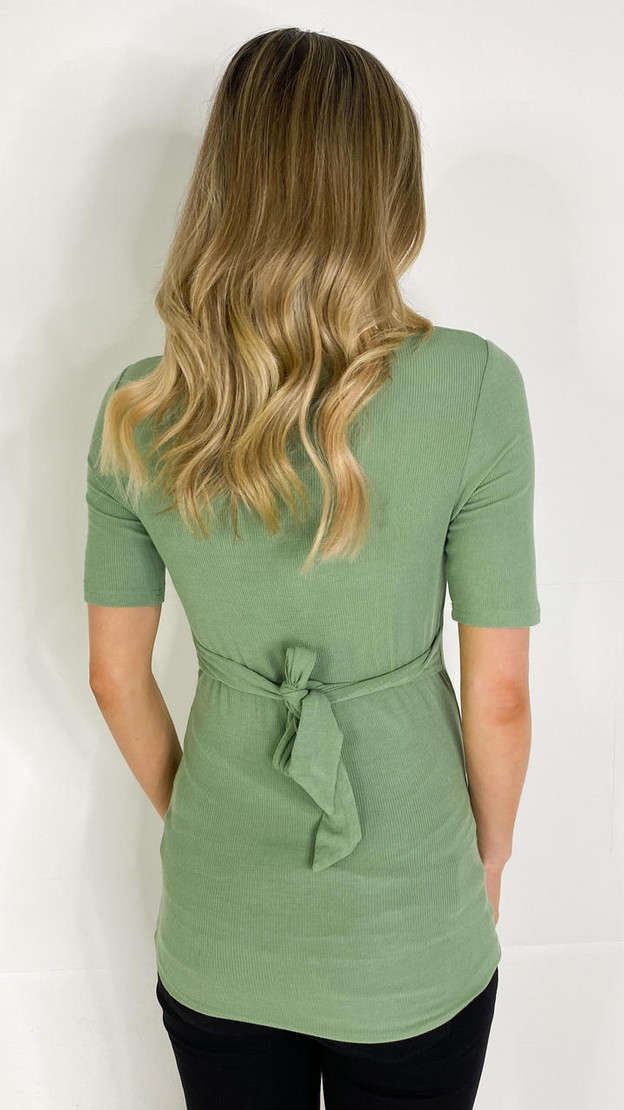 Get That Trend Mamalicious Sage Green 2 in 1 Maternity Top