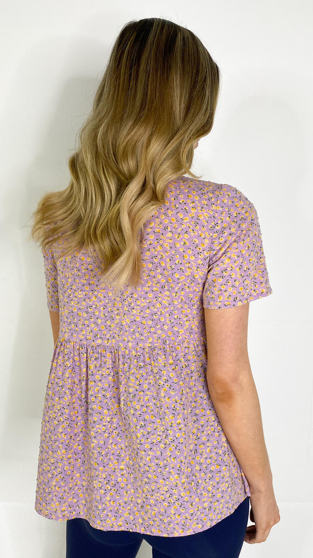 Get That Trend Pieces Pink Floral Maternity Smock Top