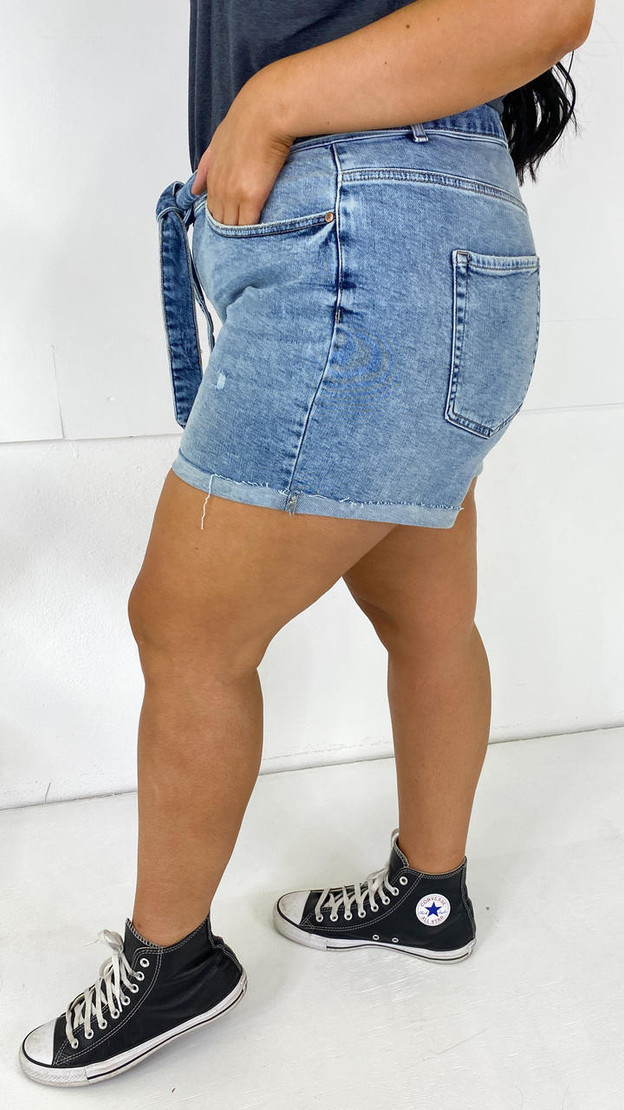 Get That Trend Only Carmakoma Light Blue Mom Style Shorts