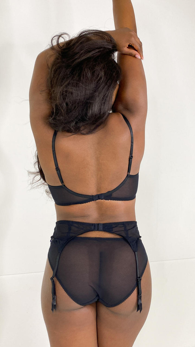 Get That Trend Gossard Black and Electric Blue Lace Plunge Bra