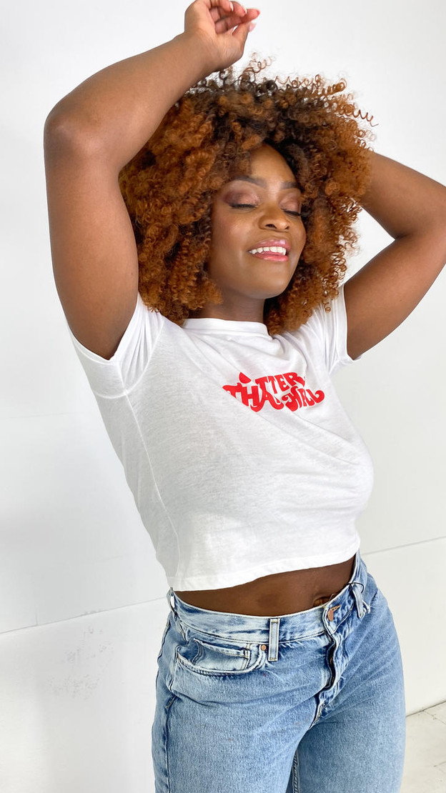 Get That Trend Motel Rocks Hotter Than Hell White Shrunk Tee