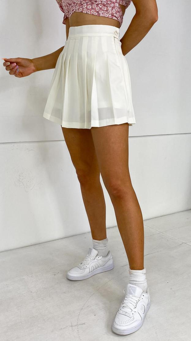 Ivy Lane Off-White Tennis Skort