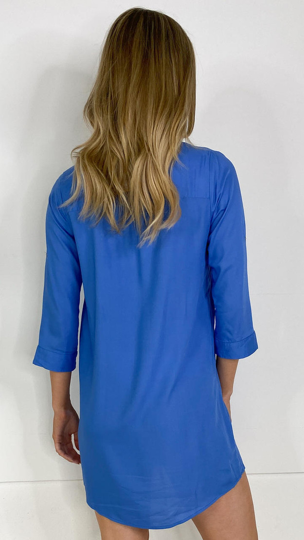 Get That Trend Mamalicious Tunic Dress in Blue