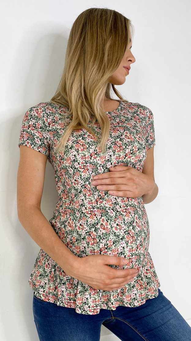 Mamalicious Floral Jersey Top