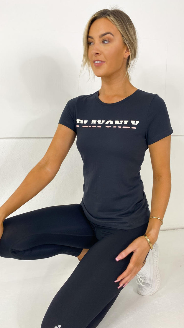 Get That Trend Only Play Black Graphite Tee
