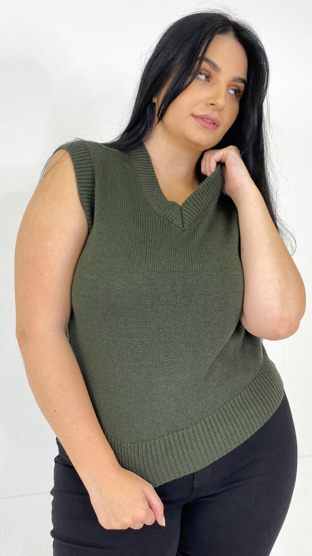 Only Carmakoma Rosin Knitted Vest