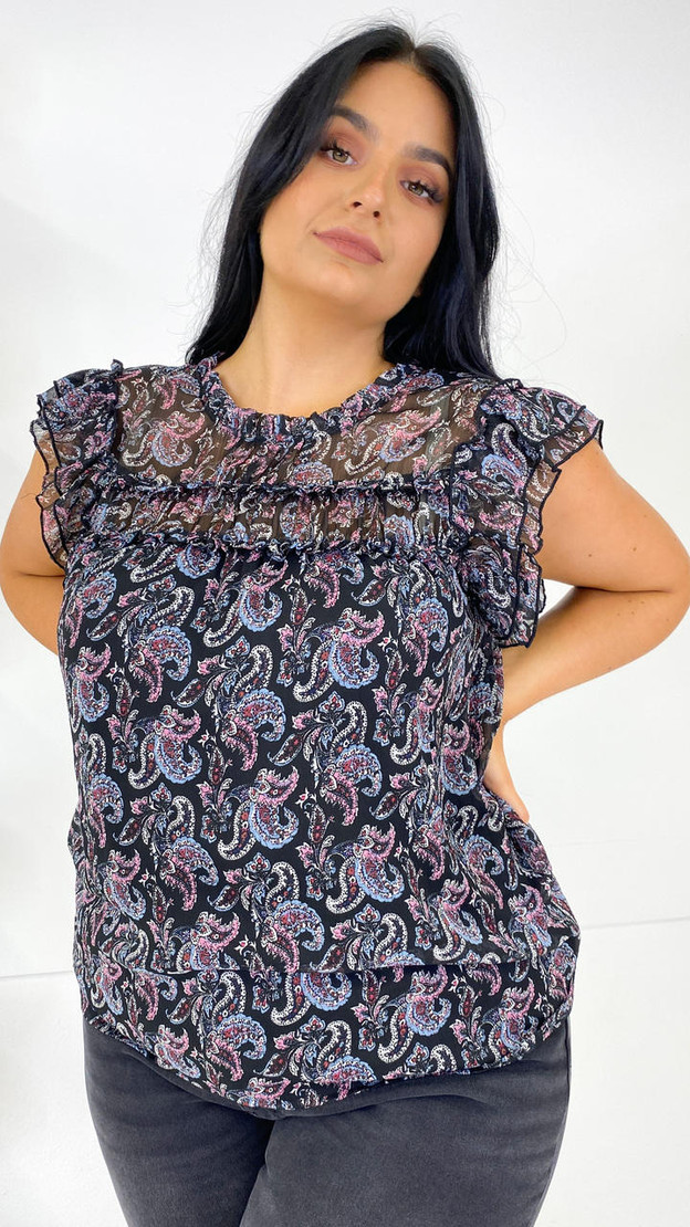 Get That Trend Only Carmakoma Black Cap Sleeve Top
