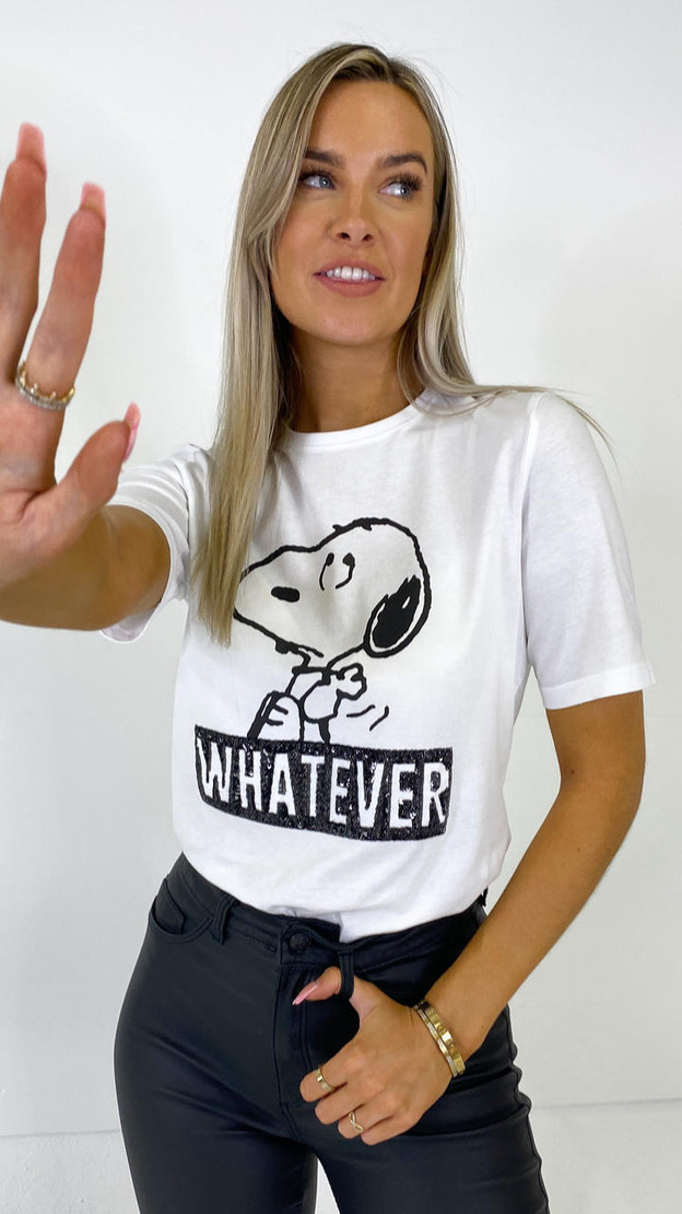 Only White Peanuts Slogan Tee