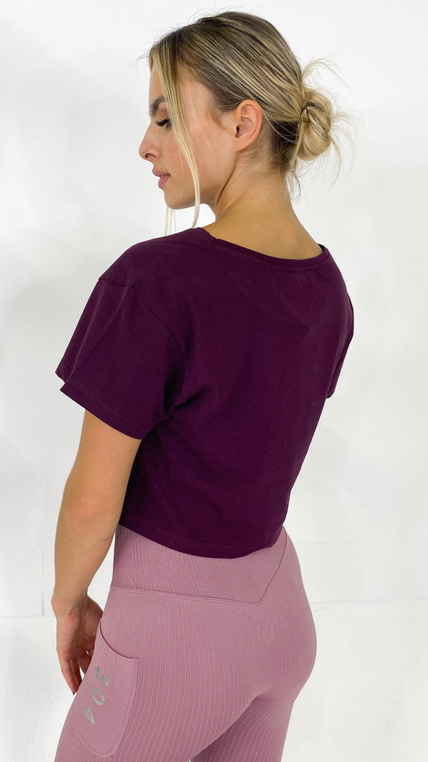 Get That Trend 304 Purple Cropped Tee