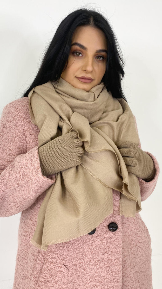 Get That Trend Pieces Nude Raw Hem Long Scarf