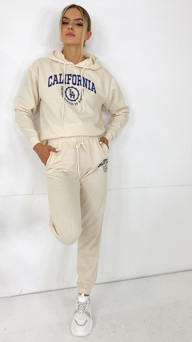 Only Life Cream California Joggers