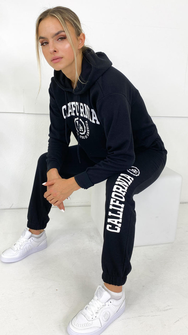 Only Life Black California Joggers