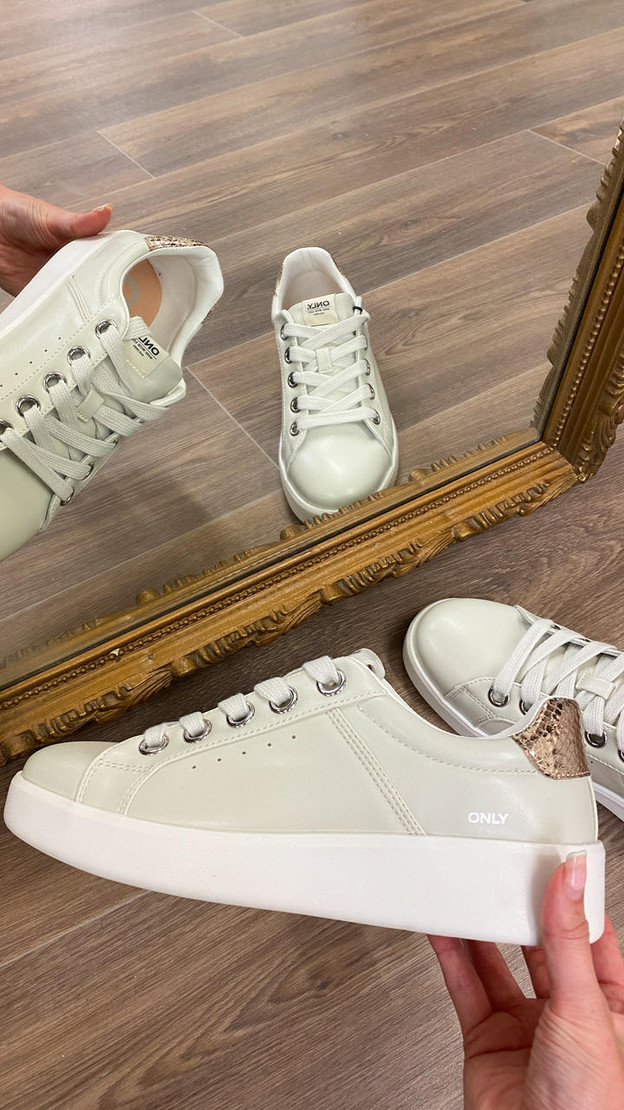 Only Light Grey Trainers
