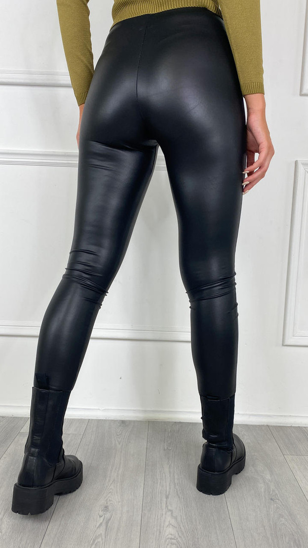 Get That Trend Only Black Faux Leather Leggings