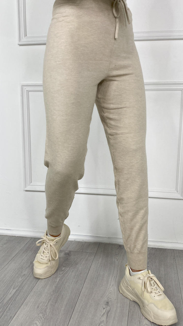 Only Cream Cozy Slim Knit Pants
