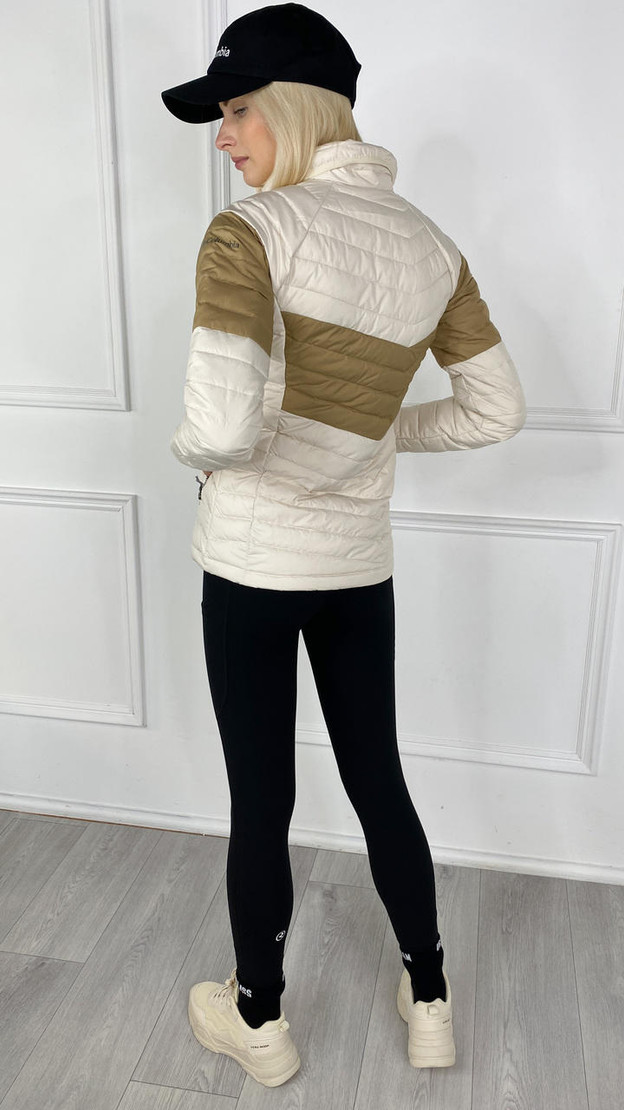 Get That Trend Columbia Womenss Powder Lite Blocked Jacket In Chalk