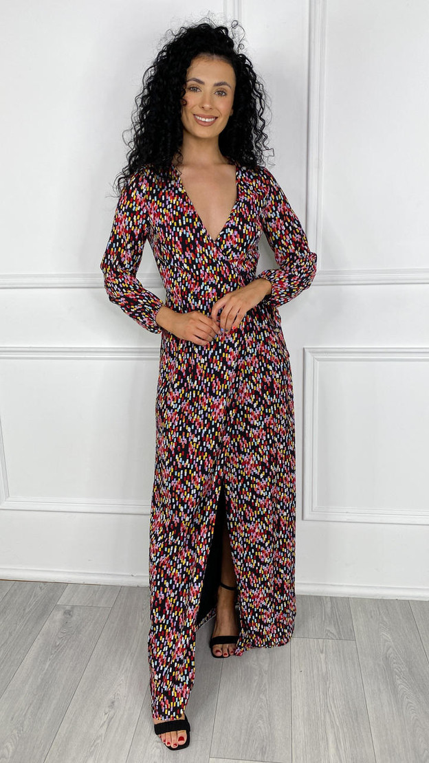 Get That Trend Little Mistress by Vogue Williams Printed Maxi Dress With Side Split