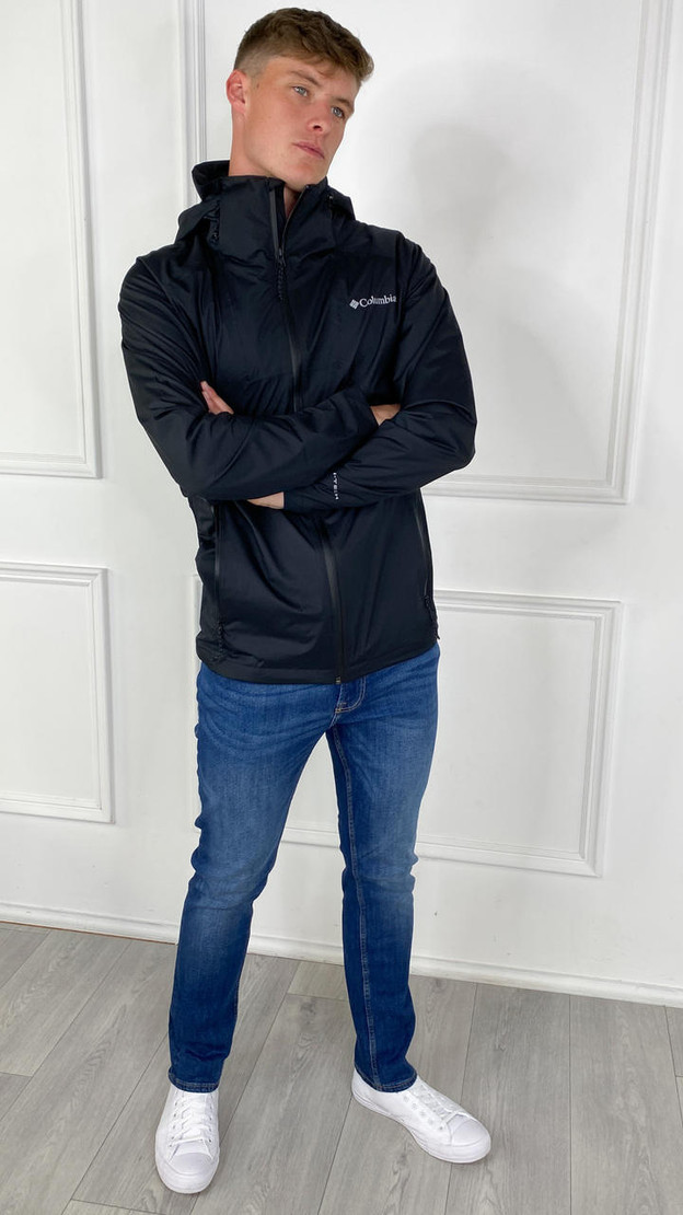 Get That Trend Columbia Mens Rain Scape Jacket In Black