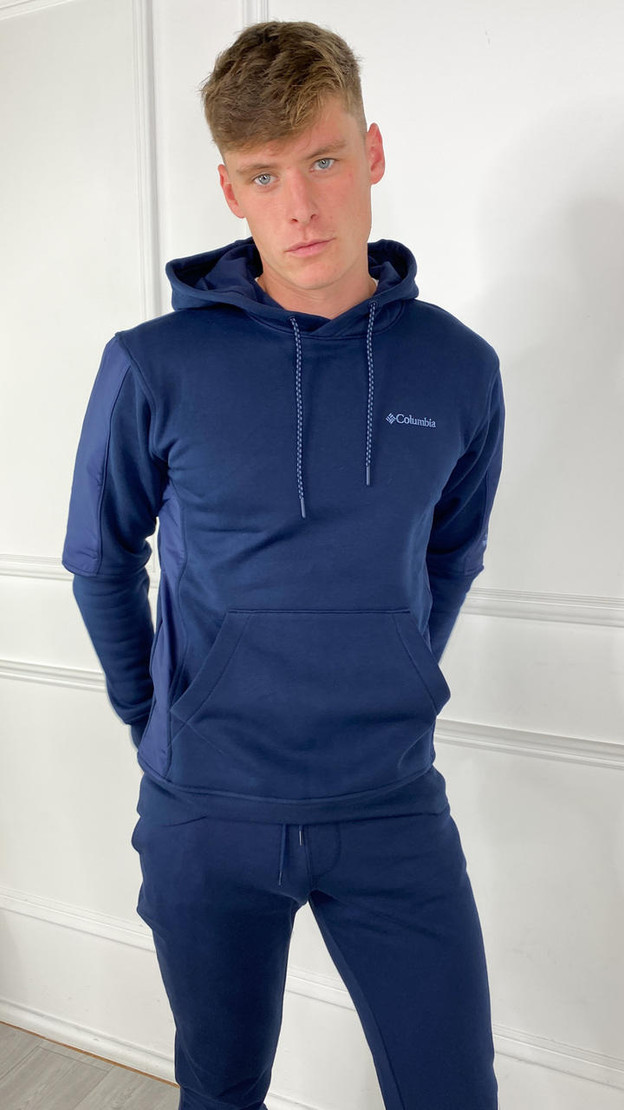 Get That Trend Columbia Mens Minam River Pullover Hoodie In Navy