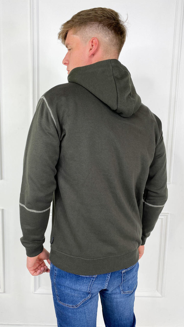 Get That Trend Only and Sons Green Contrast Coloured Hoodie