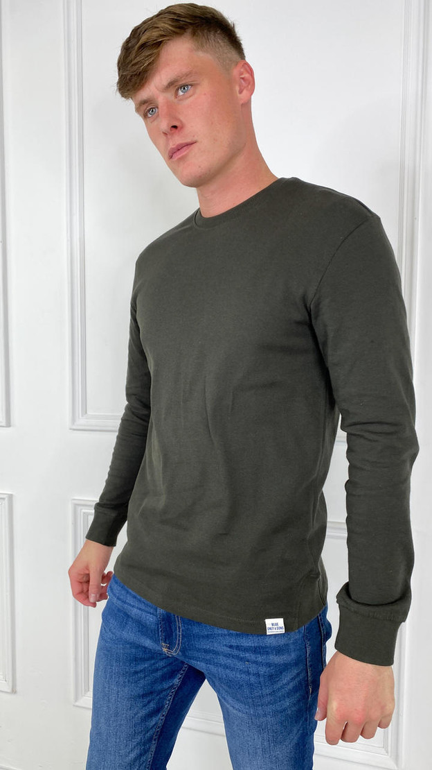 Only & Sons Long Sleeved T-Shirt In Green