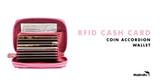 RFID Cash Card Coin Accordion Wallet