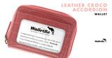 Leather Croco Accordion Wallet