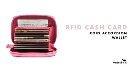 RFID Cash Card Coin Accordion Wallet