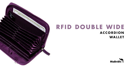RFID Double Wide Accordion Wallet