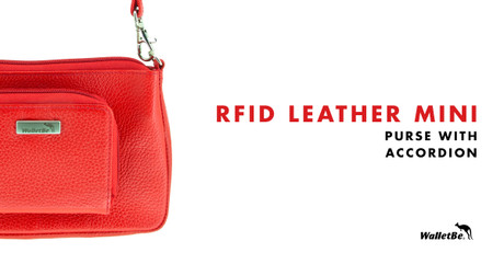 RFID Leather Mini Purse with Accordion