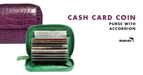 Cash Card Coin Accordion Wallet