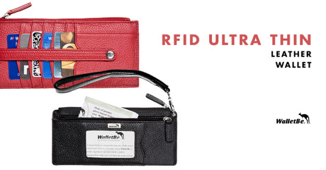 RFID Ultra Thin Leather Wallet