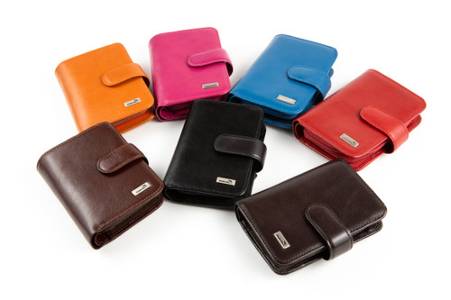 Leather RFID Billfold Wallet (Accordion and Coin Purse)