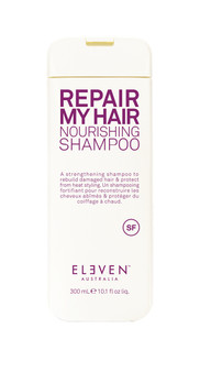 A strengthening shampoo used to rebuild damaged hair and protect from heat styling.