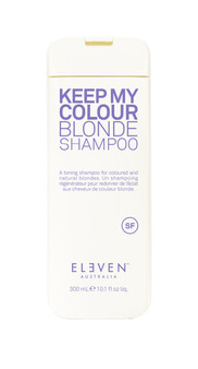 A toning shampoo for coloured and natural blondes.