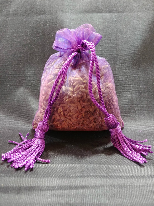 Sachet Purple Organza With Purple Tassels