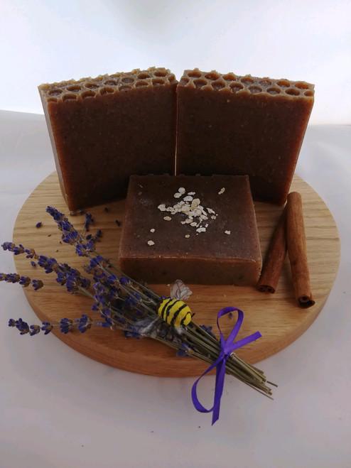 Soap- Lavender, Oats, Honey and Cinnamon