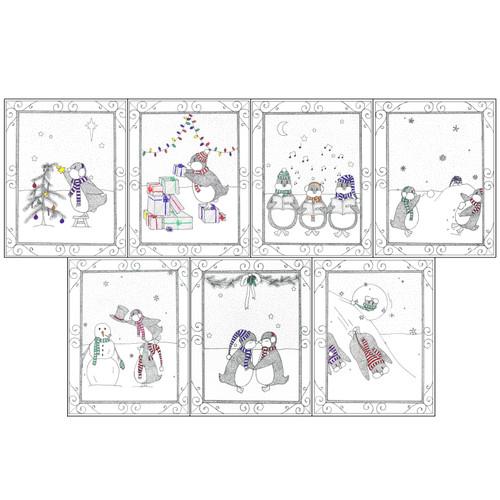 Penguin Holiday Card Set
