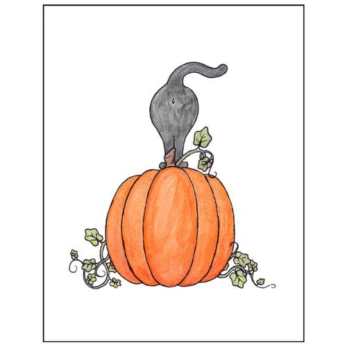 Halloween Cat Butt