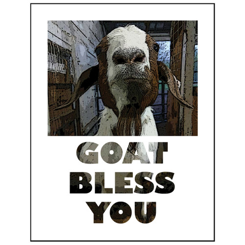 Goat Bless You card